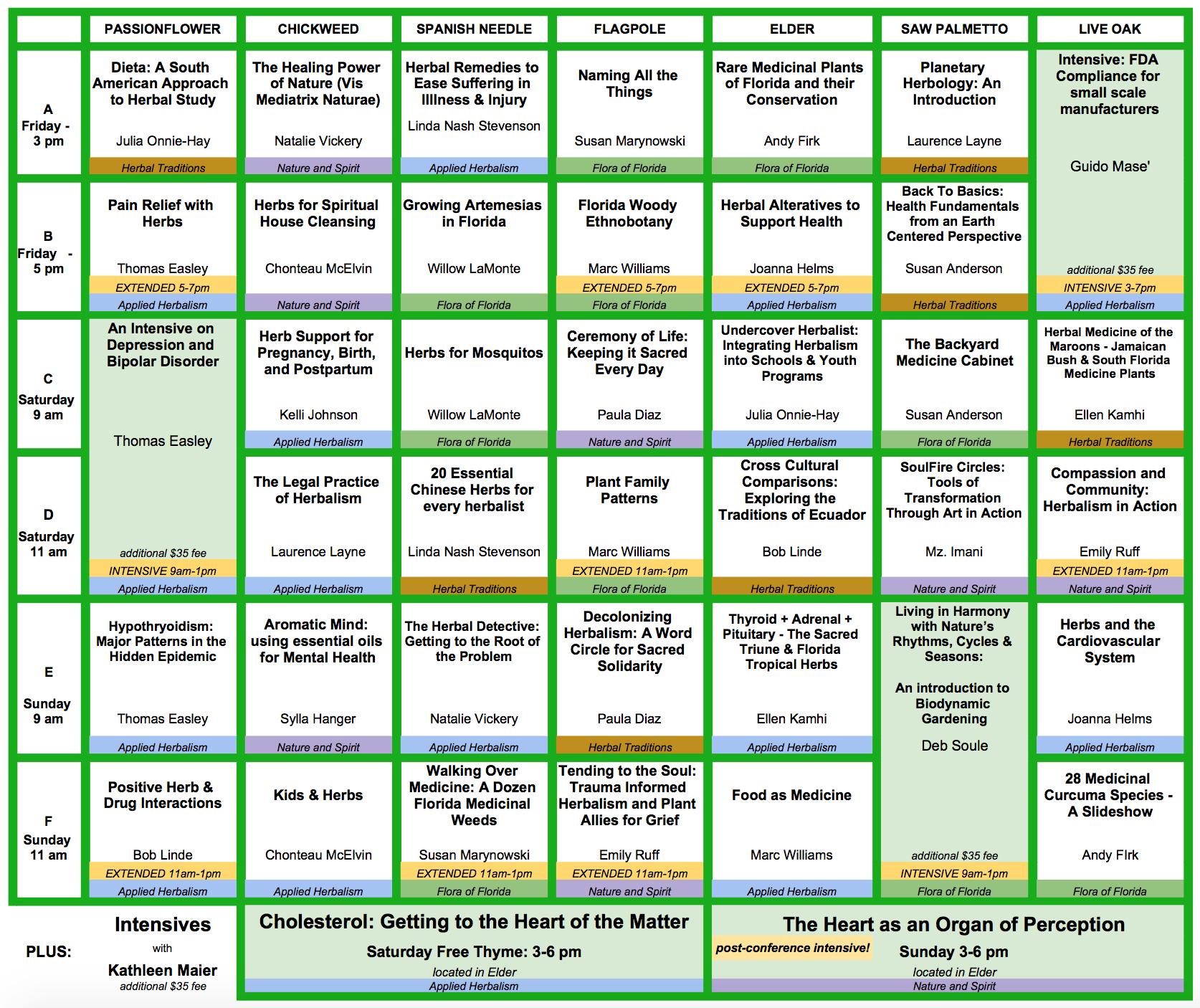 2017 Schedule